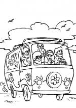 Desene De Colorat Scooby Doo Qbebe Planse Si Imagini De