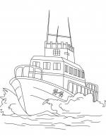 Desene De Colorat Vapoare Qbebe Planse Si Imagini De Colorat