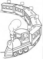 Desene De Colorat Trenulet Qbebe Planse Si Imagini De