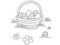 Desene in creion cu oua De paste