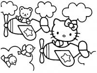 Desene De Colorat Hello Kitty Qbebe Planse Si Imagini De