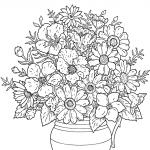 Desene De Colorat Vaza Cu Flori Qbebe Planse Si Imagini