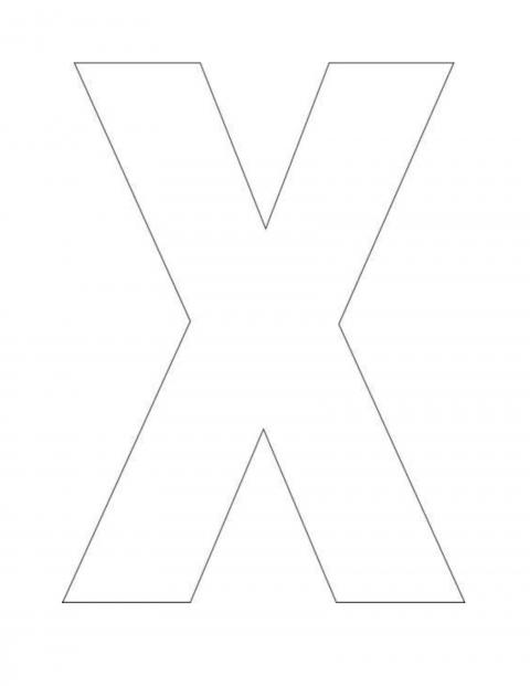 Litera X Desene De Colorat