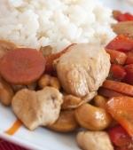 Friptura de pui cu orez si morcov