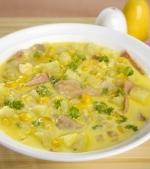 Supa- crema de porumb si cartofi