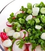 Salata de radacinoase si branza de vaca