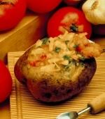 Cartofi umpluti cu legume