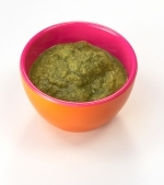 Piure de legume cu spanac si ficatel de pasare