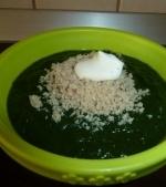 Piure de spanac verde cu praz si cartof