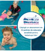 Câștigă un abonament de 12 ședințe de educație acvatică pentru bebeluș la Acvatic Bebe Club