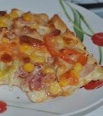 Pizza cu blat pufos