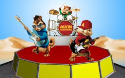 Castiga unul dintre cele 2 DVD-uri Alvin and The Chipmunks 4