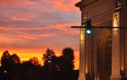 Explicația apusurilor roșiatice superbe din București din ultimele zile