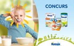 Câștigă piureuri și cereale delicioase de la Humana!
