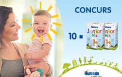 Concurs Humana: 10 premii delicioase pentru bebeluși fericiți