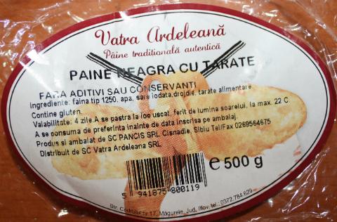 Eticheta paine ambalata
