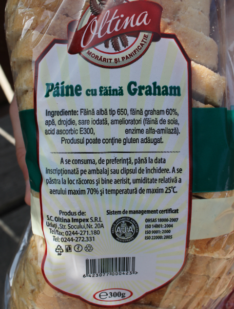 Paine cu faina graham
