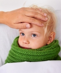 Copil care transpira