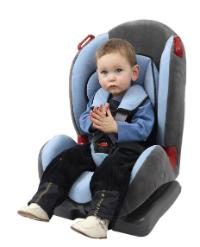 Copil in scaun omologat