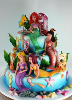 Tort copii Ariel, micuta sirena