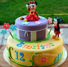 Tort copii Minnie si Mickey