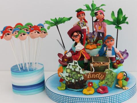 Tort pentru copii cu Captain Hook si piratii