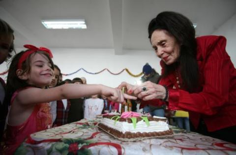 Eliza si Adriana Iliescu la aniversarea fetitei