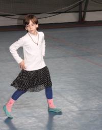 Eliza Iliescu la orele de dans