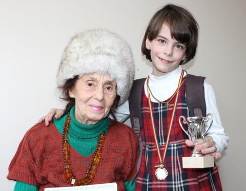 Adriana Iliescu si fiica ei, Eliza Maria Bogdana Iliescu