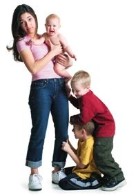 Bona avand grija de mai multi copii