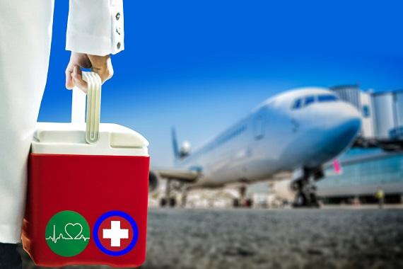 Organe pentru transplant sunt duse la un avion care le va transporta unde este nevoie