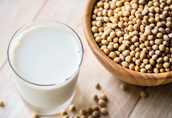 Lapte si boabe de soia
