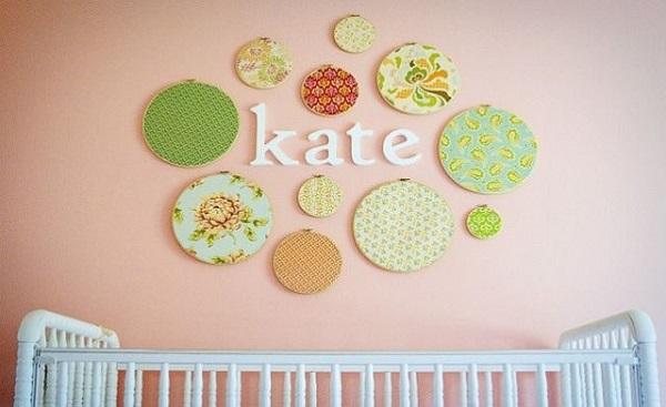 decoratiuni din material textil pentru camera bebelusului