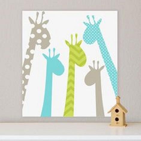 tablou cu girafe