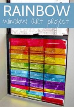 decoratiune din servetele pentru fereastra