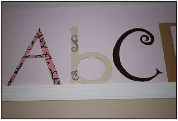 decor cu litere