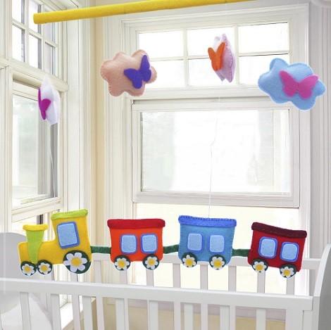 decor cu norisori pentru camera bebelusului
