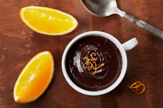 Mousse cu ciocolata si portocale