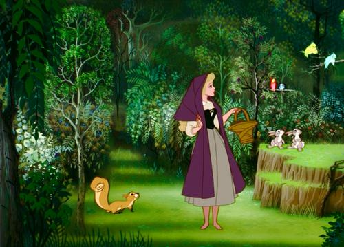 Aurora, personajul principal din desenul animat Frumoasa Adormita