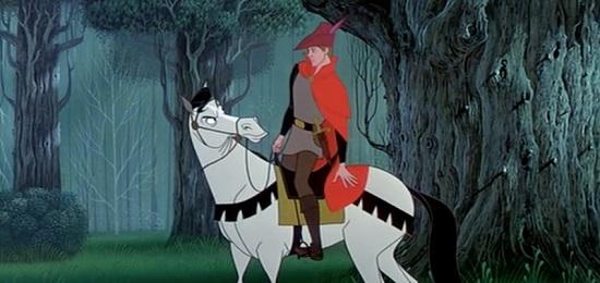 Samson, calul printului din filmul Frumoasa Adormita