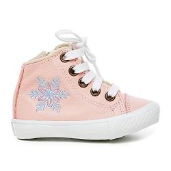Sneakeri pentru copii, roz cu un fulg de nea