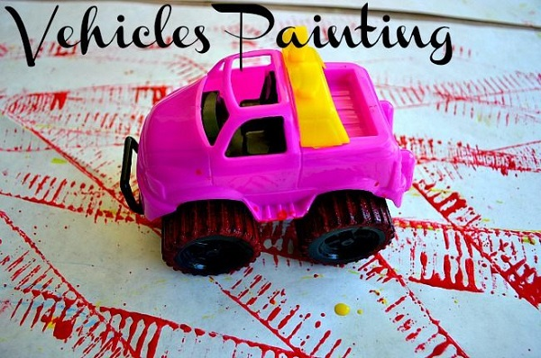 Si masinutele pot sa picteze