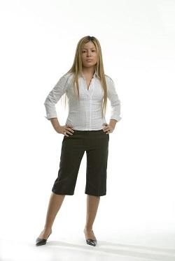 Evita pantalonii 3/4  daca esti scunda