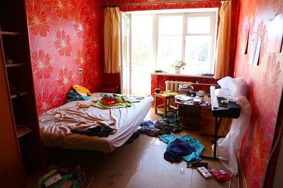 Dormitor dezordonat