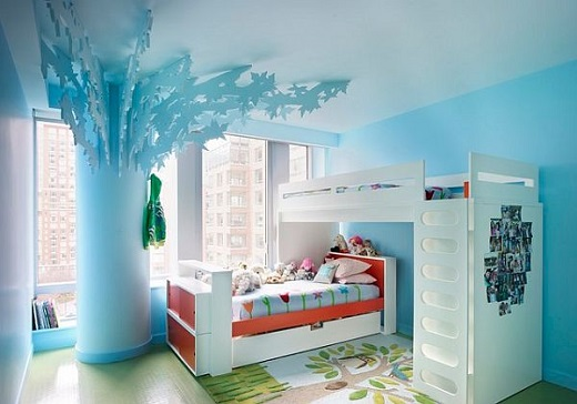 Dormitor de fetite cu albastru