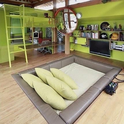 Dormitor in stil bunker
