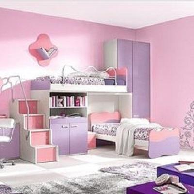 Dormitor de fetite bicolor