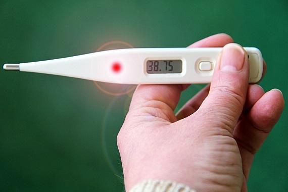 Termometru ce indica febra