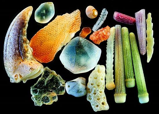 Nisip vazut la microscop