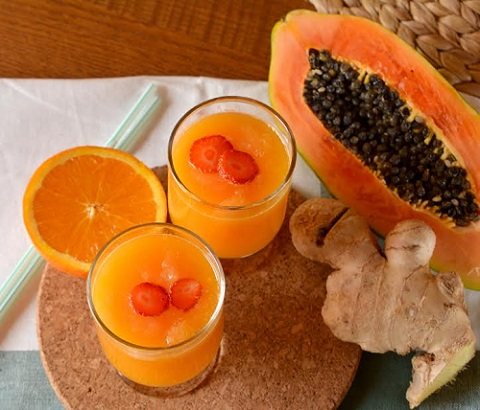 Smoothie si papaya